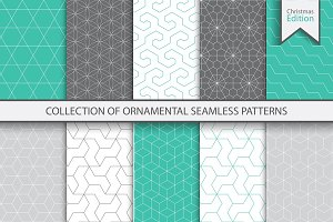 Ornamental color seamless patterns