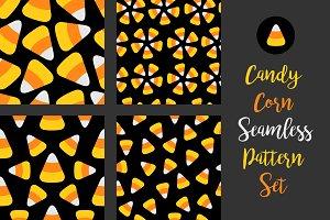 Candy corn seamless pattern set
