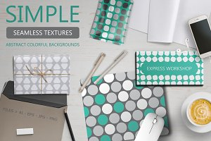 Simple geometric seamless patterns