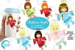 Christmas Angels clipart AMB-572