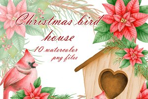 Christmas bird house