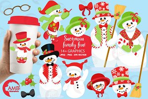 Snowman family graphics, AMB-566