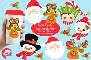 Santa and friends graphics, AMB-197