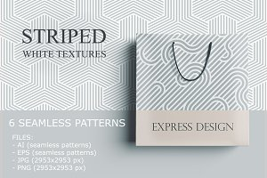 Striped seamless geometric patterns