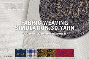 Fabric Weaving Simulation Yarn