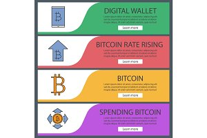 Bitcoin web banner templates set