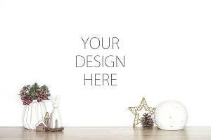 Christmas background - design mockup