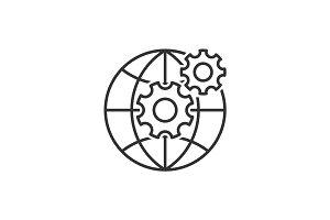 Web development line icon