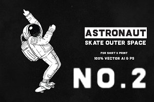 Astronaut Skate Outer Space 02