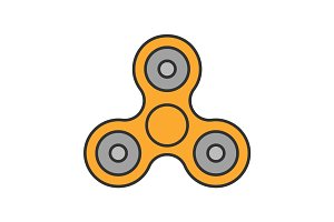 Spinner color icon