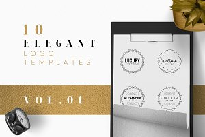 10 Elegant Logo Templates Vol.01