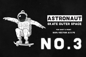 Astronaut Skate Outer Space 03