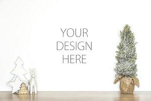 Christmas mockup - art background
