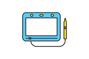Magnetic drawing board color icon