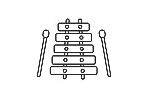 Xylophone linear icon