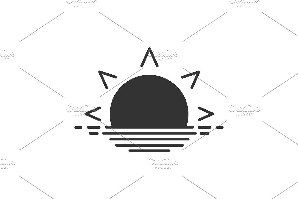 Rising sun glyph icon