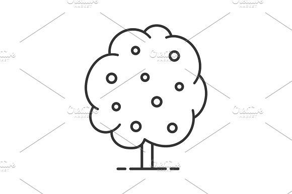 Fruit tree linear icon