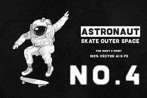 Astronaut Skate Outer Space 04