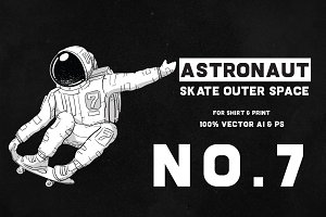 Astronaut Skate Outer Space 07