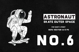 Astronaut Skate Outer Space 06