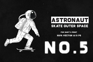 Astronaut Skate Outer Space 05