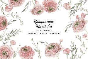 Rannunculus Floral set