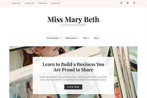 Simple Wordpress Theme - Mary Beth