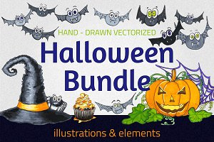 Halloween Illustrations Bundle