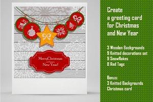 Cristmas card creation set