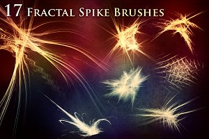 17 Fractal Spike Brushes