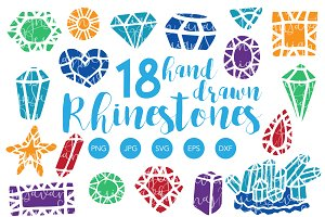 Hand Drawn Gemstone SVG & Clipart