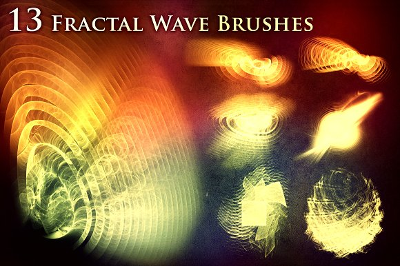 13 Fractal Wave Brushes
