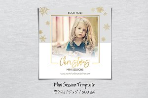 Christmas Mini Session Template