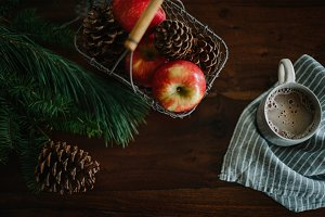 Pine, Apples, Acorns and Cocoa