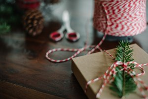 Rustic Holiday Gift Box