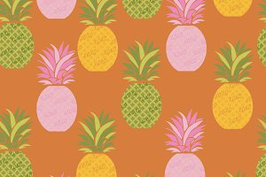 XOXO PINEAPPLE PATTERN + GRAPHIC