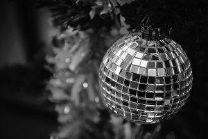 Christmas mirror disco ball