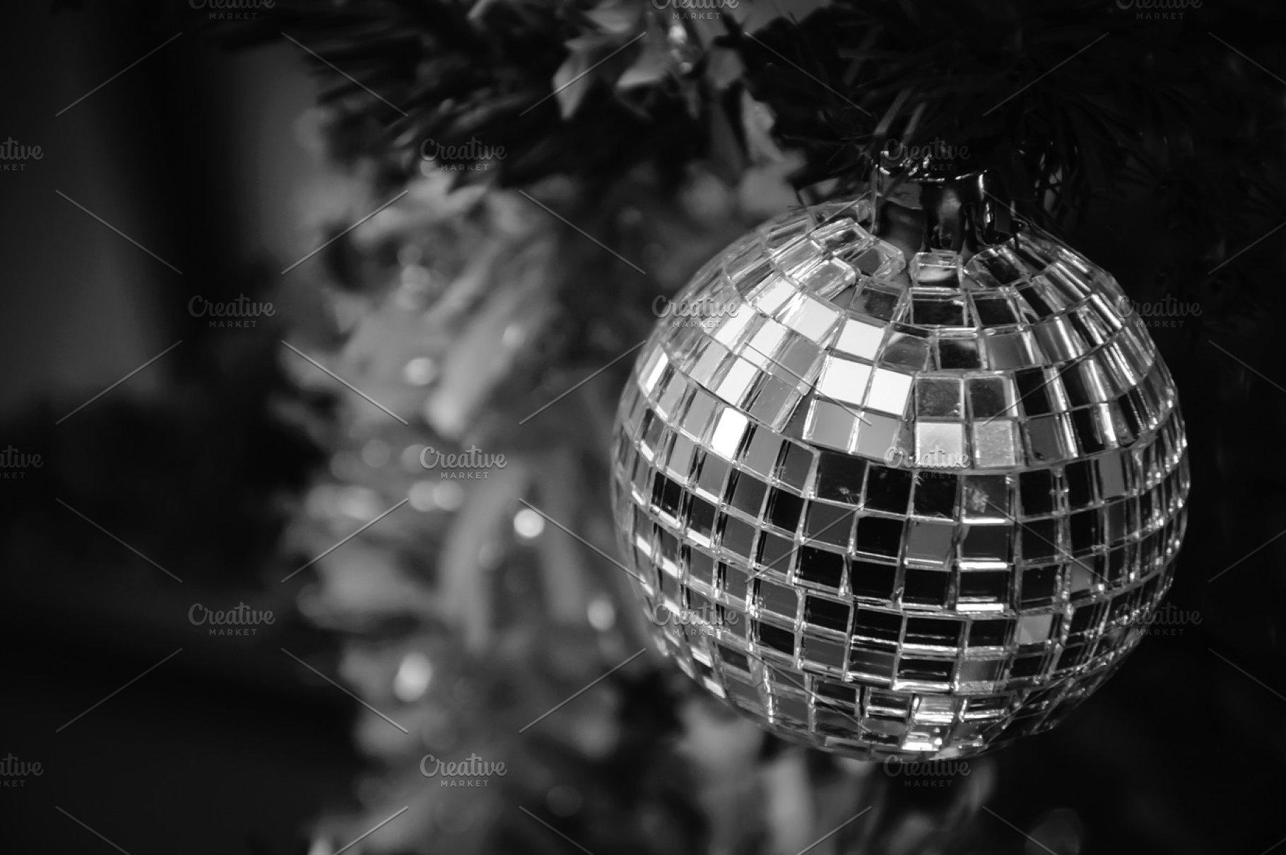 Christmas mirror disco ball