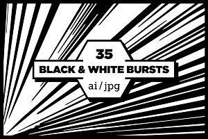 Black & White Explosion Backgrounds