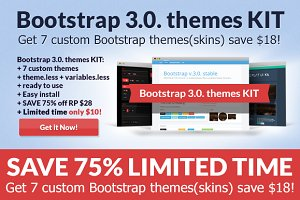 Bootstrap 3.0. Theme Pack SAVE 50%