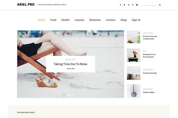 Ariel Pro Dazzling Wordpress Theme