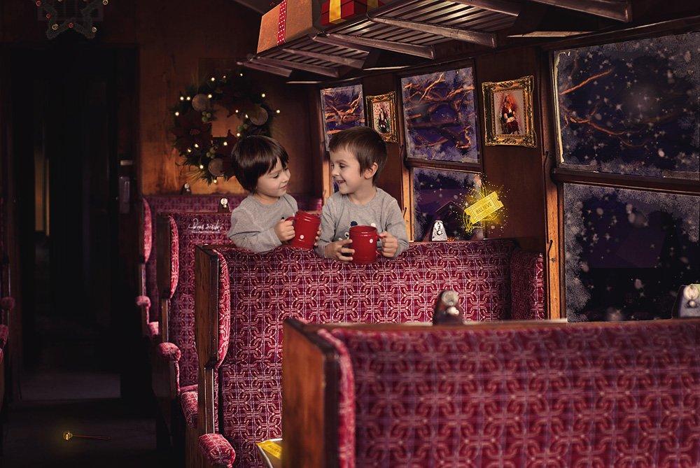Train Ride Polar Express Backdrop Textures Creative Market
