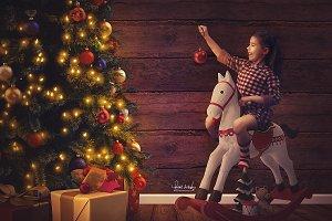 Digital Backdrop Christmas Tree 1