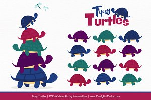 Jewel Turtle Stack Clipart
