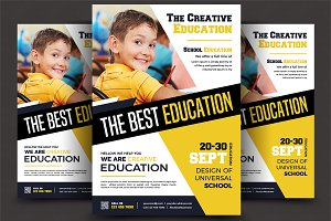 School Education Flyer Templates