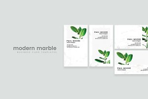 Modern Marble Business Card Template