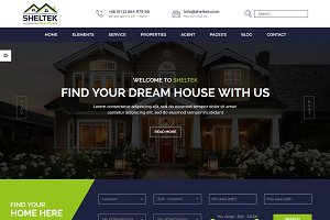 Sheltek - Real Estate HTML Template
