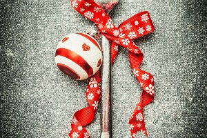 Fork with Christmas decoartion