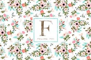 Seamless Floral Garden Pattern