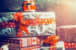 Christmas gifts, retro style